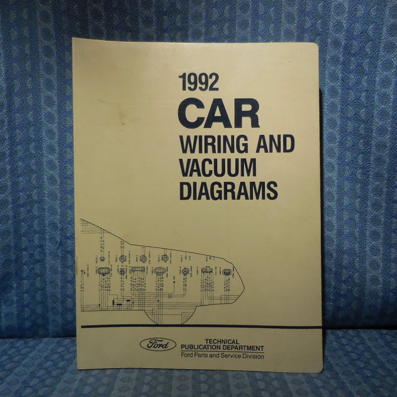 1992 Ford Lincoln Mercury OEM Wiring & Vacuum Diagrams Mark VII Mustang Cougar