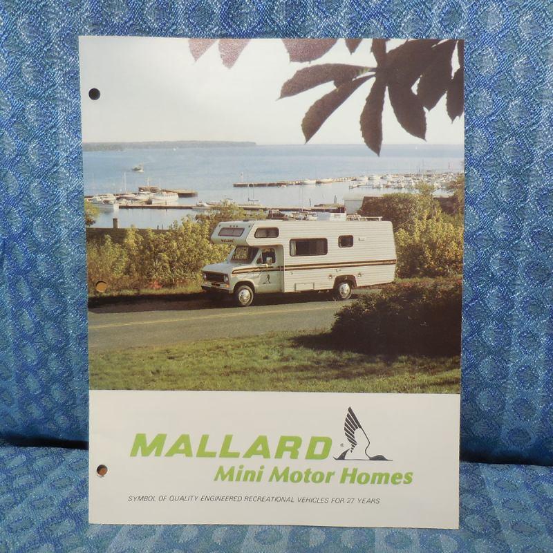 1979 Mallard RV Mini Motorhome / Ford Original Sales Brochure