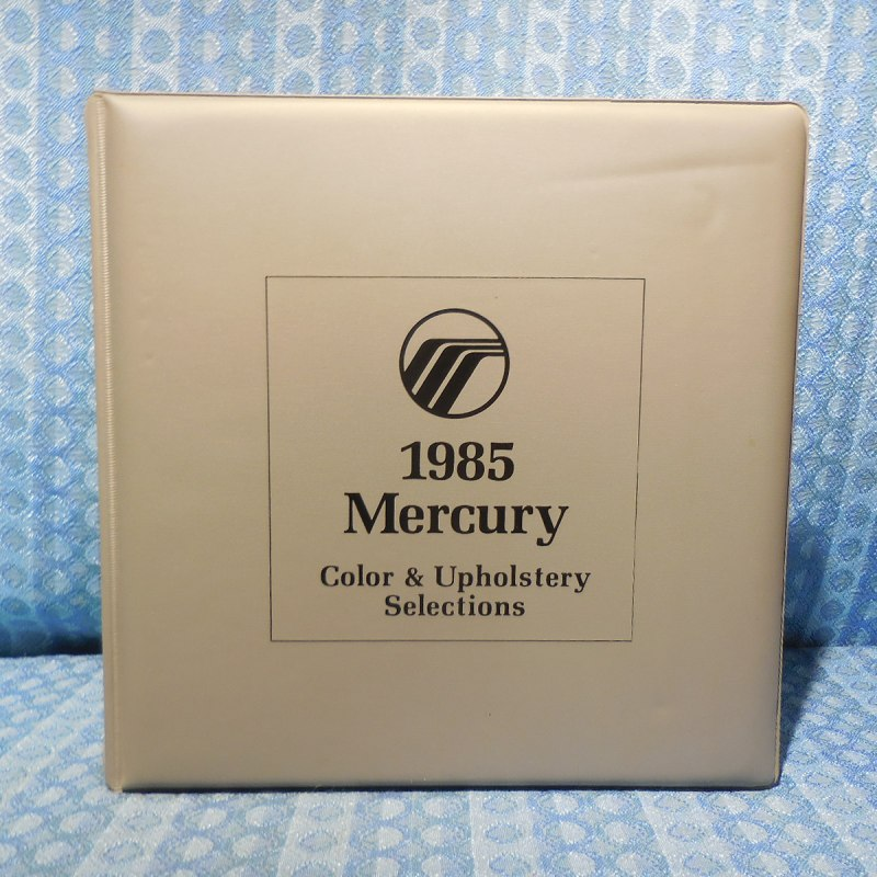 1985 Mercury Original Dealer Color & Upholstery Album Grand Marquis Cougar