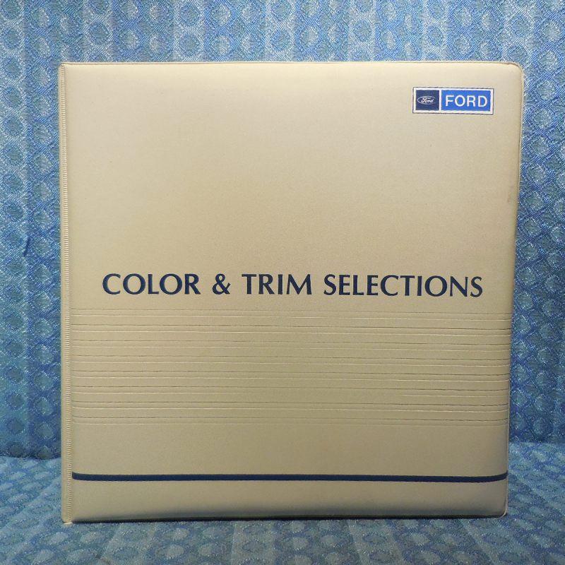 1988 Ford Original Dealer Color & Upholstery Selection Album Car & Light Truck