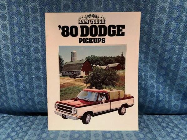 1980 Dodge Pickup Original Sales Brochure D-50 to D300 & Power Wagon