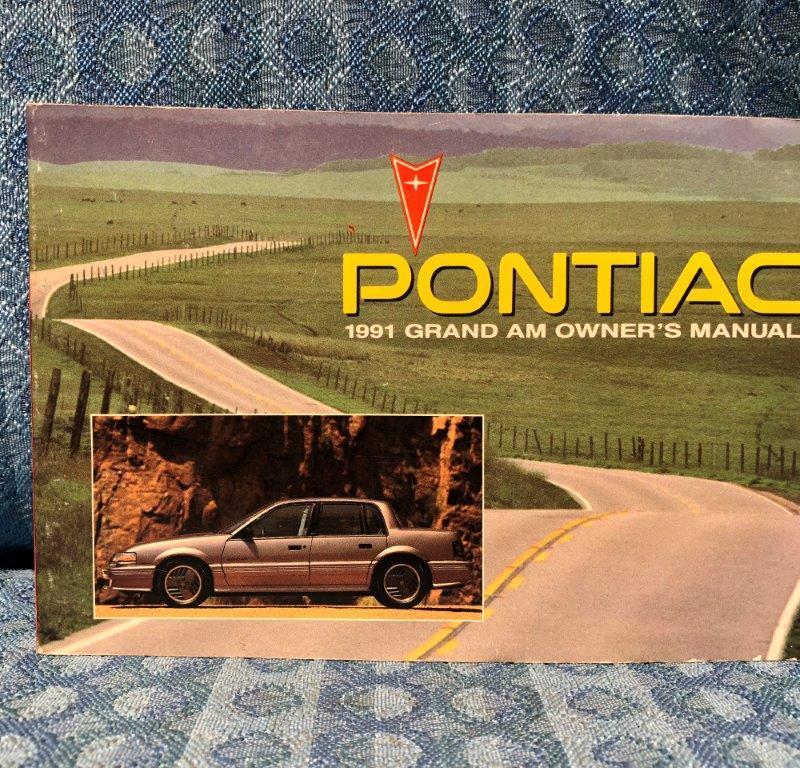 1991 Pontiac Grand Am Original Owners Manual
