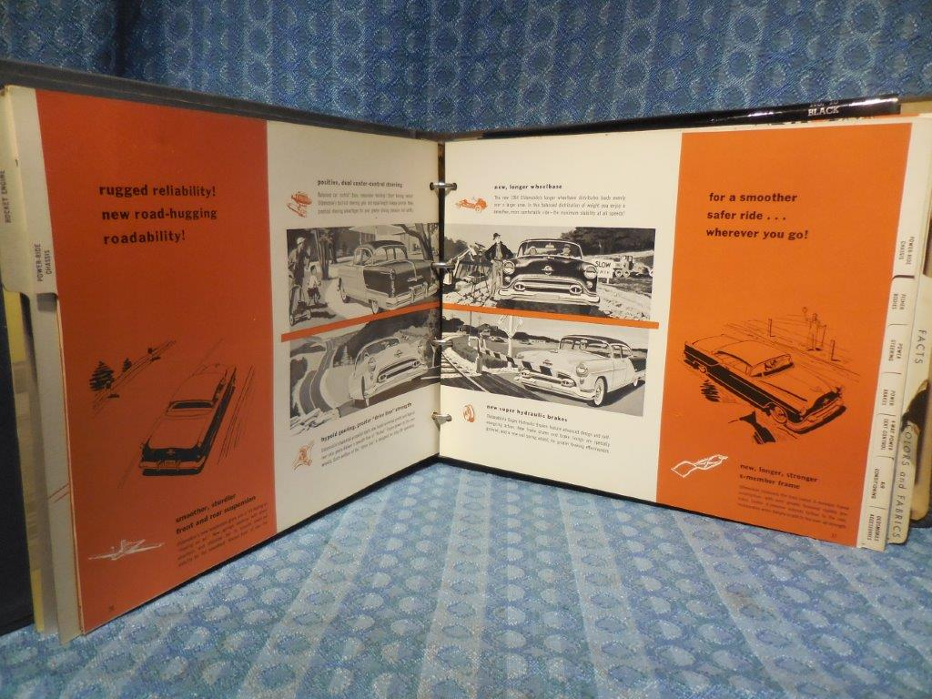 1954 Oldsmobile Original Dealer Album Color Upholstery Facts & Features 88  98