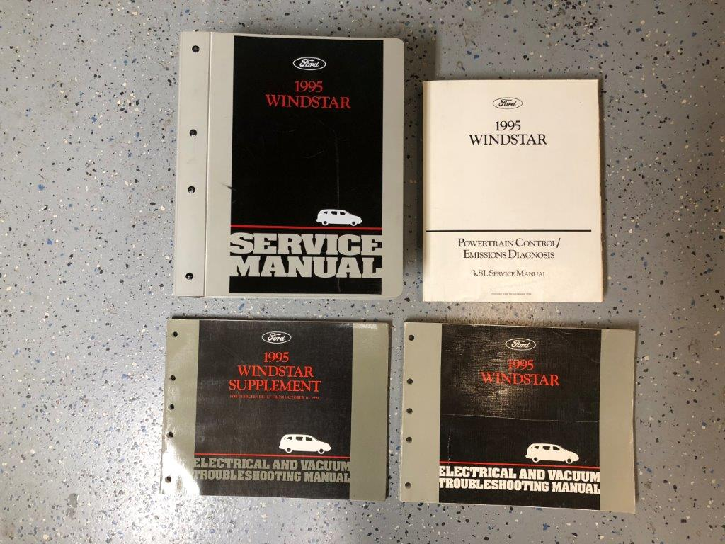 1995 Ford Windstar Original Service + Troubleshooting Manual 4 Volumes