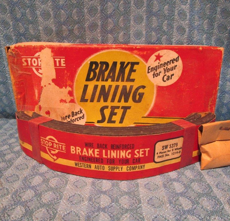 1947-1954 Kaiser Frazer 1948-1957 Willys NORS Brake Lining Set 50 52 53 #SW5379