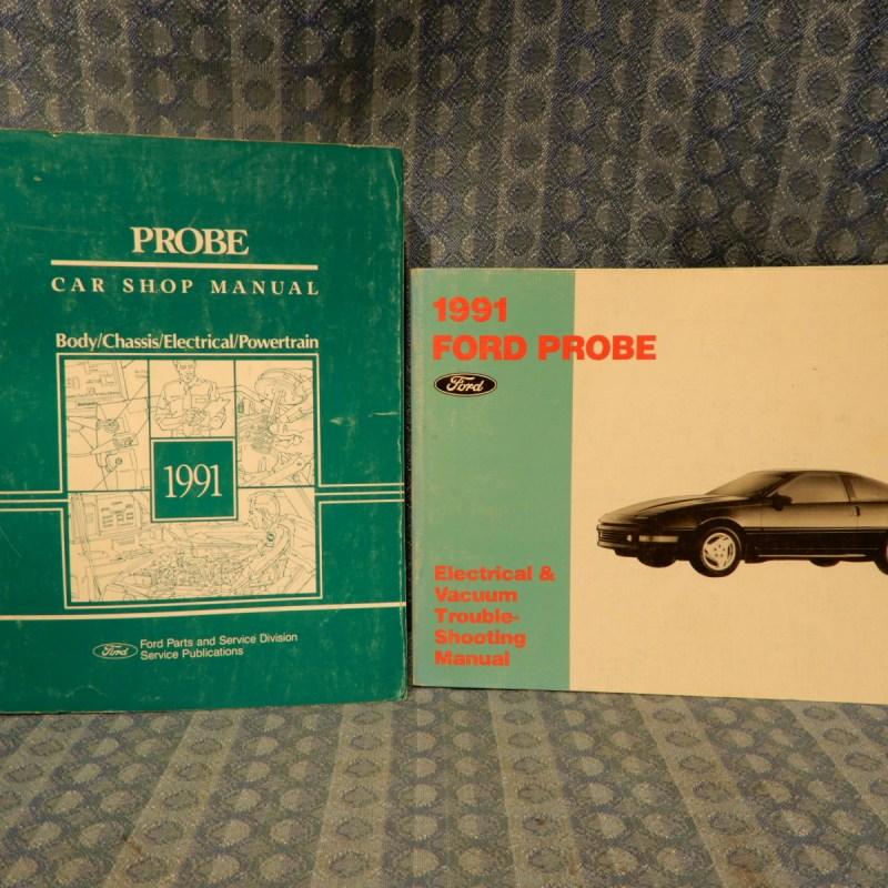 1991 Ford Probe Original Shop + Electrical & Vac Troubleshooting Manuals 2 Vol