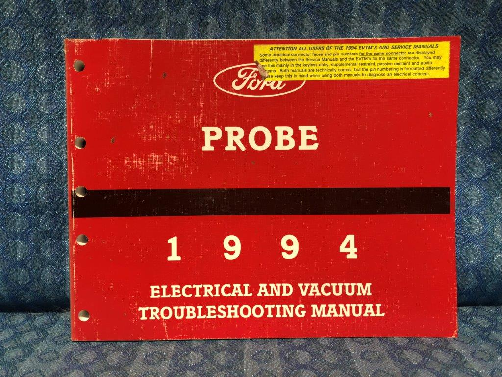 Ford Probe Electrical Vacuum Troubleshooting Manual Wiring Diagrams