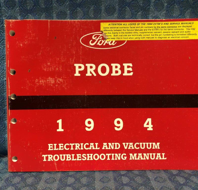 1994 Ford Probe OEM Electrical & Vacuum Troubleshooting Manual
