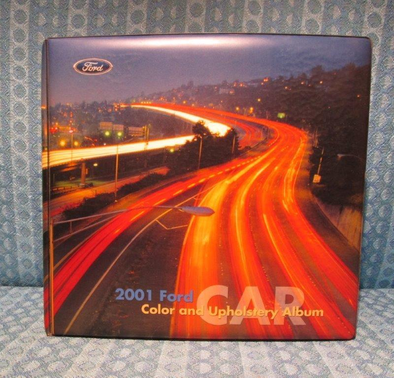 2001 Ford Car Original Dealer Showroom Upholstery Album Mustang T-Bird