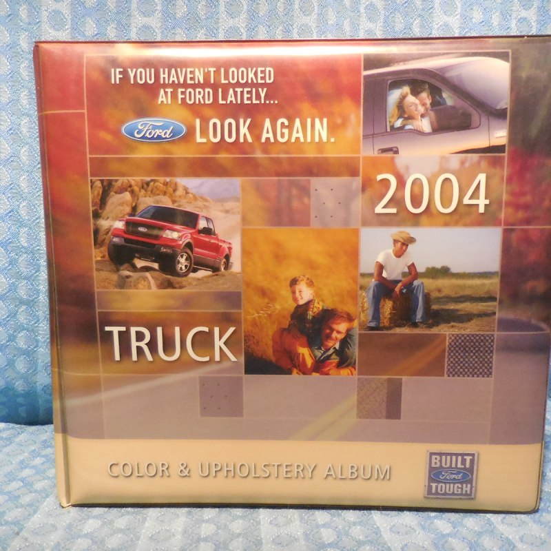 2004 Ford Truck Original Dealer Color & Upholstery Album Light-Medium Duty