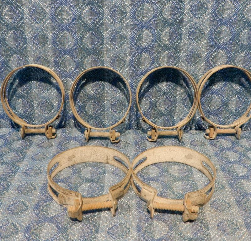 1928-1931 Ford Model A NORS 6 piece Hose Clamp Set 1929 1930 #A-8261, A-8287