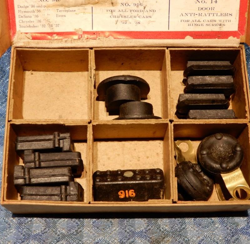 1926-1938 GM Mopar Ford NORS 15 PC Door Bumper Assortment 1928 29 30 31 32 35 36