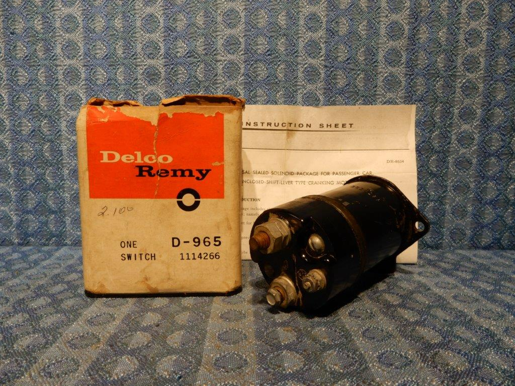 1961-1963 Special Olds F-85 1961-62 Tempest NOS Delco Starter Switch /  Solenoid - NOS Texas Parts, LLC - Antique Auto Parts