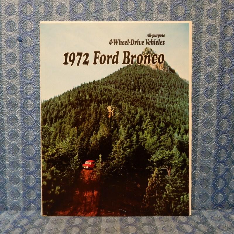 1972 Ford Bronco Original Sales Brochure