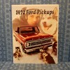1972 Ford Pickups Original Sales Brochure F-100, F-250, F-350