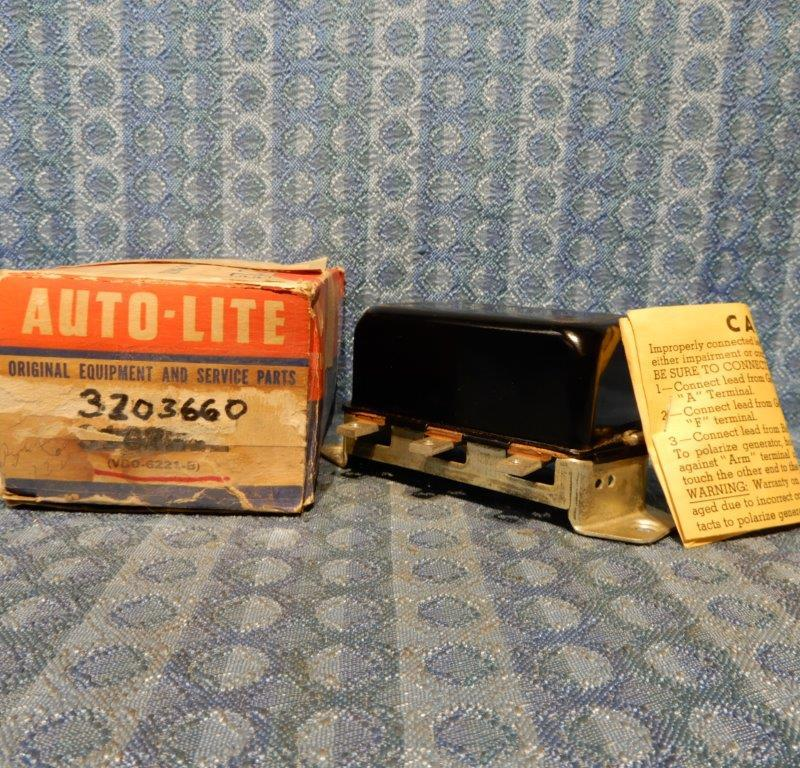 1960 1961 Rambler NOS Auto-Lite Voltage Regulator #3203660 / VB0-6221-B (SEE AD)