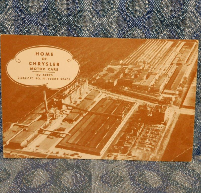1955 Chrysler Home Factory Original Advertising Postcard
