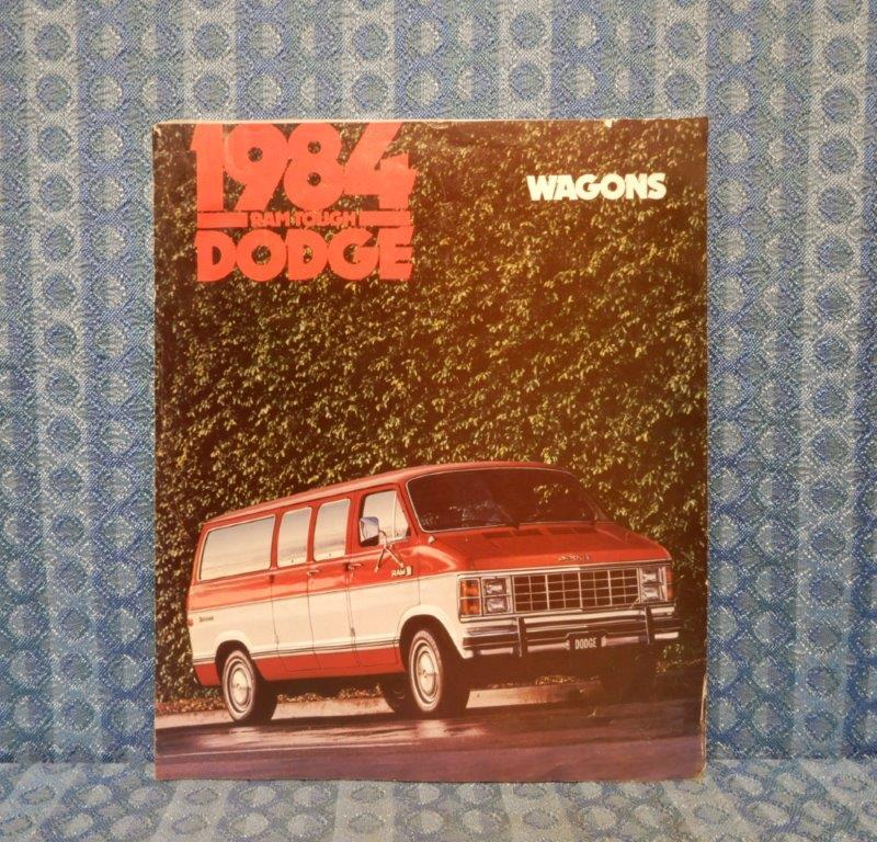 1984 Dodge Van Wagons Original Sales Brochure