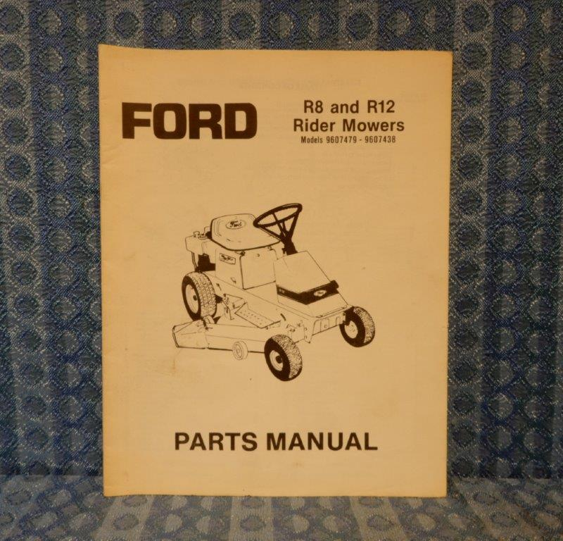1988-1989 Ford New Holland R8 & R12 Riding Mower Original Parts Manual