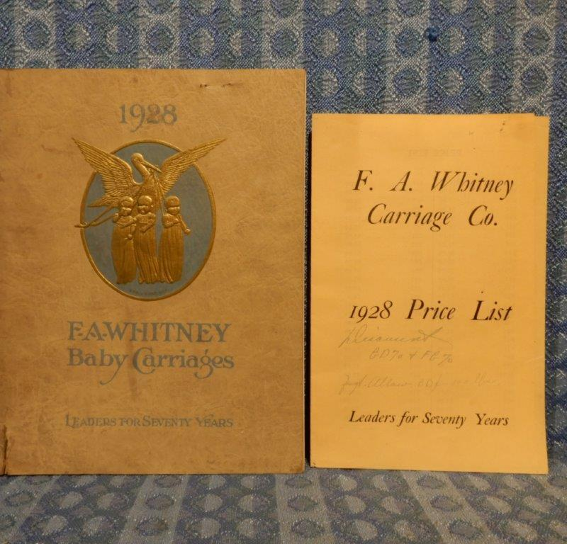 1928 F.A. Whitney Baby Carriages Original Sales Catalog & Price List