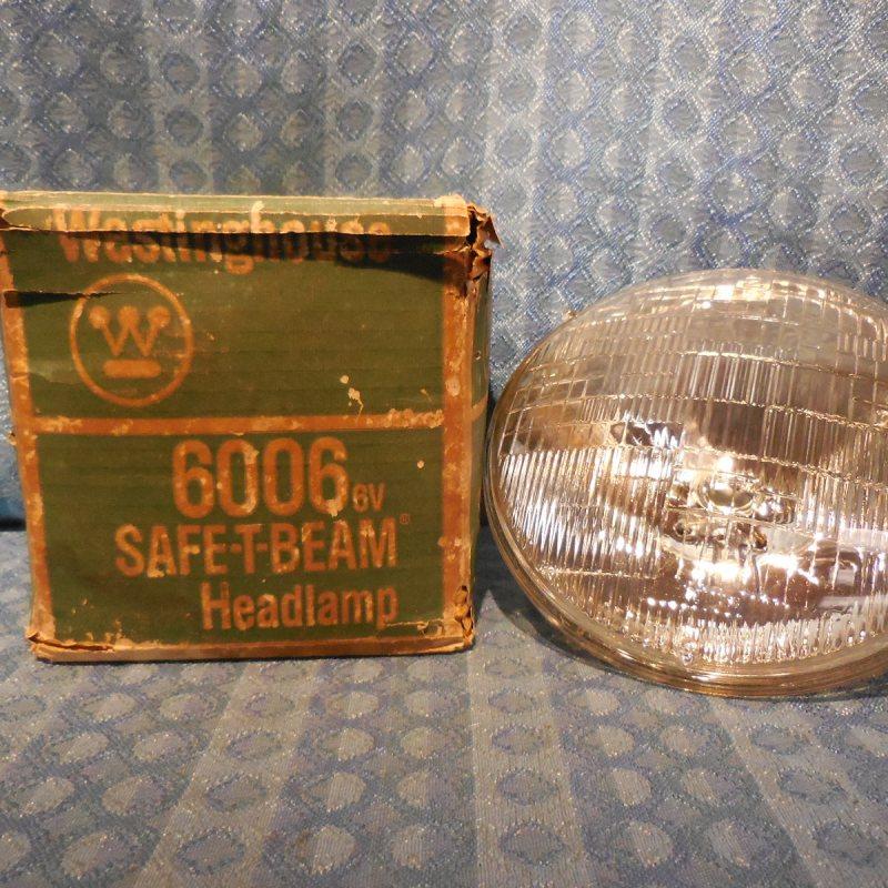 1940-1955 GM Ford Chrysler Packard Nash NORS 6 Volt Headlamp Bulb 41 47 49 #6006