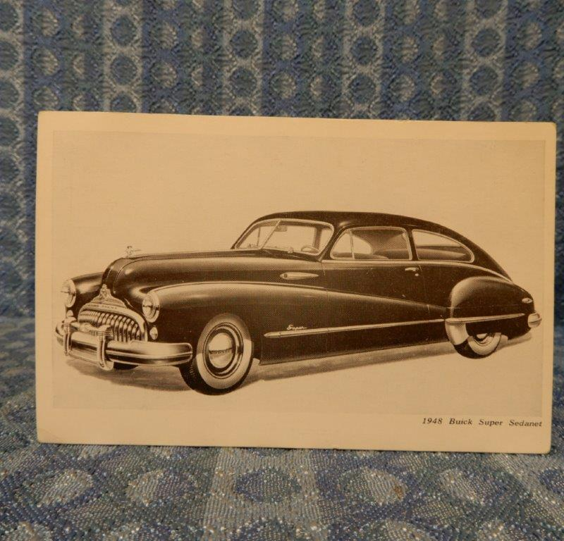1948 Buick Super Sedanet Original Factory / Dealer Postcard