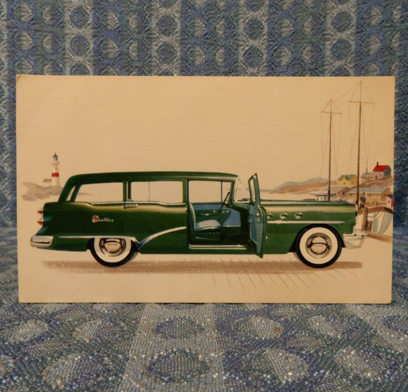 1954 Buick Century Estate Wagon 69 NOS Factory / Dealer Color Postcard