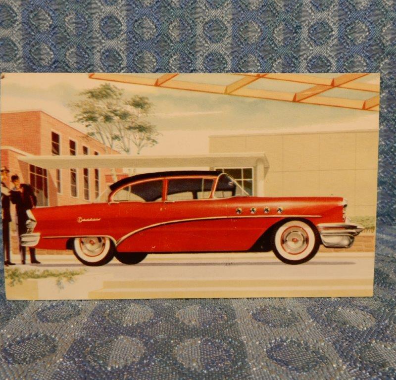 1955 Buick Century Sedan 61 NOS Factory / Dealer Color Postcard
