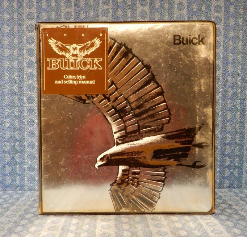 1982 Buick Original Dealer / Salesman Color, Trim & Selling Manual Rivera Regal