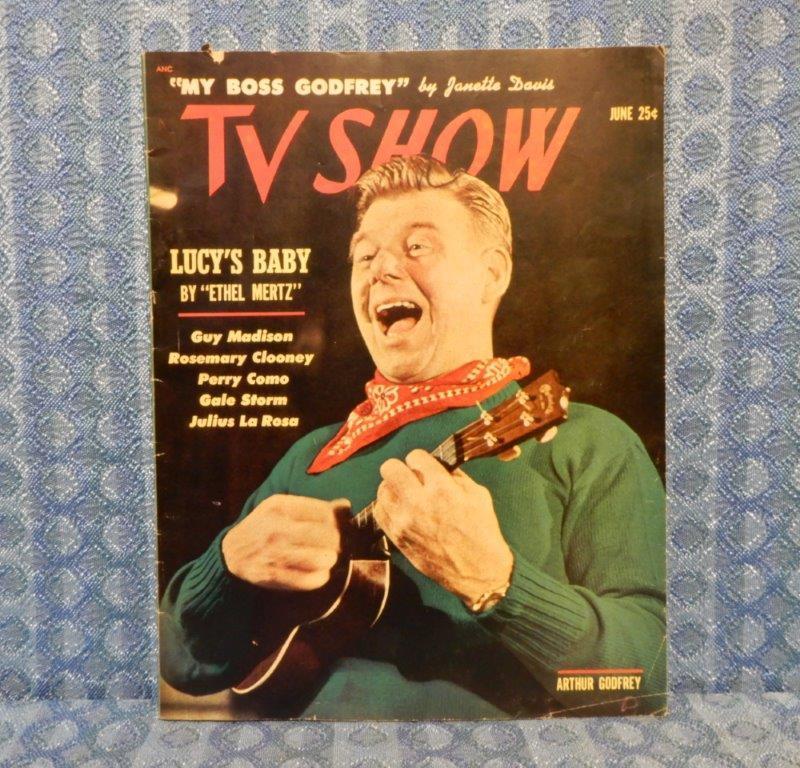 June 1953 TV Show Original Magazine - Lucys Baby, Arthur Godfrey, Perry Como