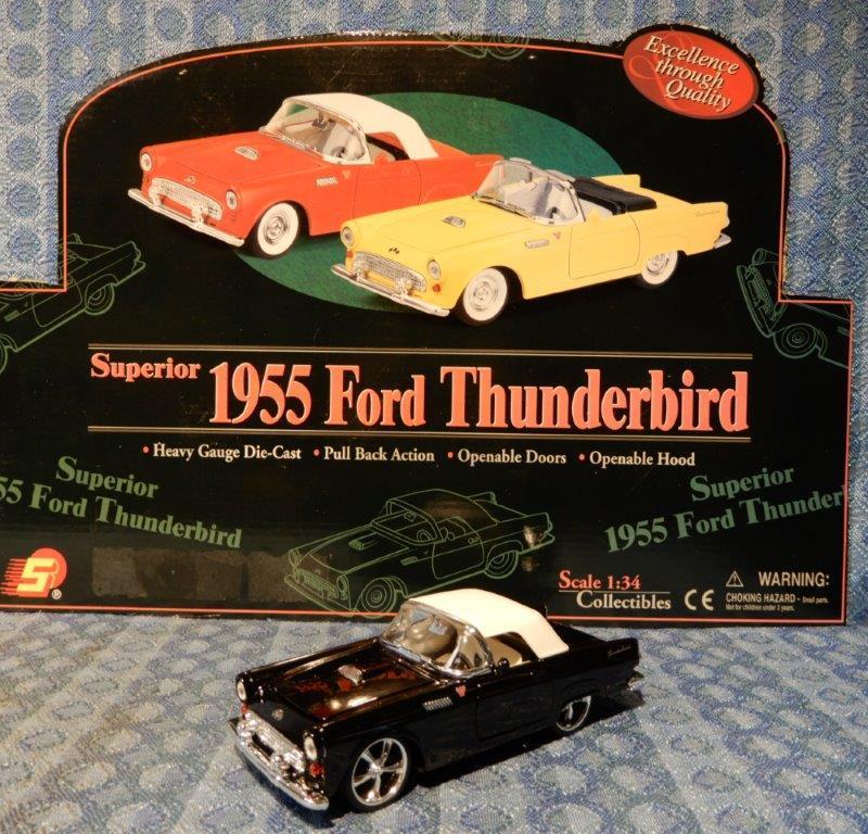 NEW 1955 Ford Thunderbird 1:34 Die Cast - Black