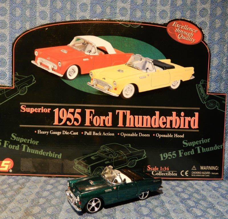 NEW 1955 Ford Thunderbird - Convertible 1:34 Die Cast - Green