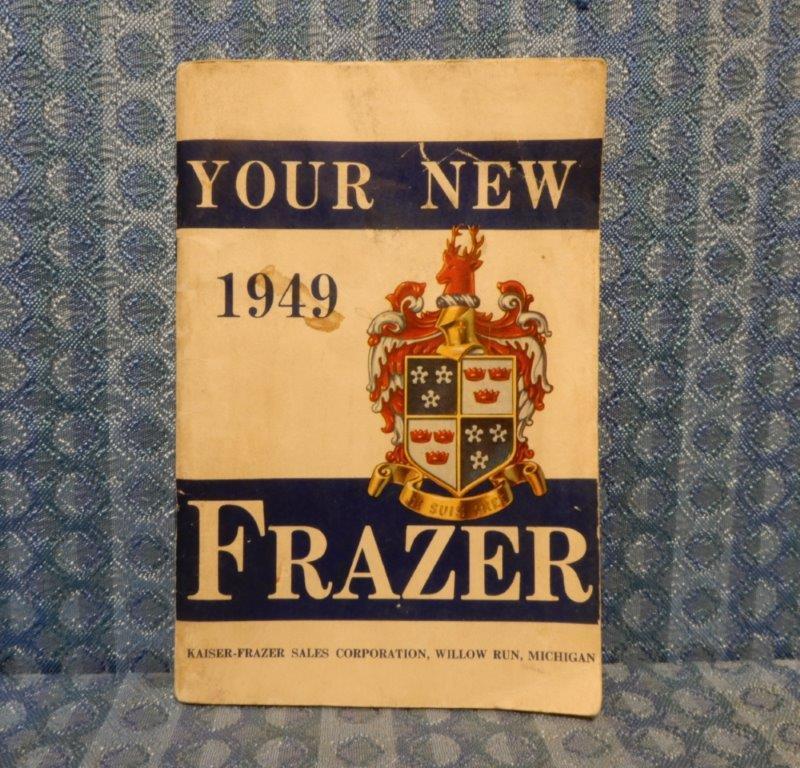1949 Frazer Original Owners Manual Vagabond, Manhattan