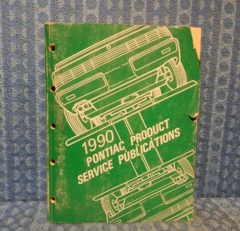 1990 Pontiac Original Product Service Publications Book Dealer Service Bulletins