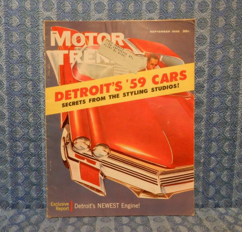 September 1958 Original Motor Trend Magazine '58 Marauder 1959 Styling Secrets