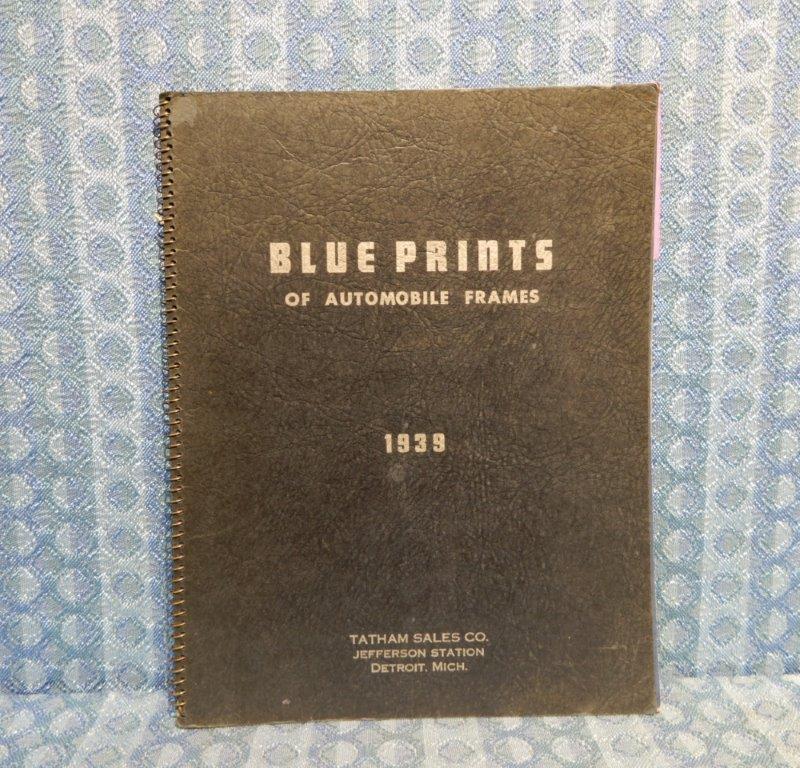 1939 Automobile Frames Blueprint Catalog GM Ford Mopar Packard Hudson Studebaker