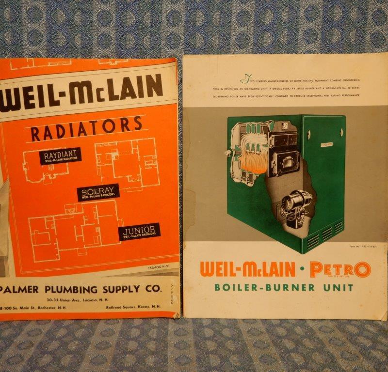 1947 Weil-McLain Radiators & Boiler Original Sales Brochures Palmer Plumbing NH