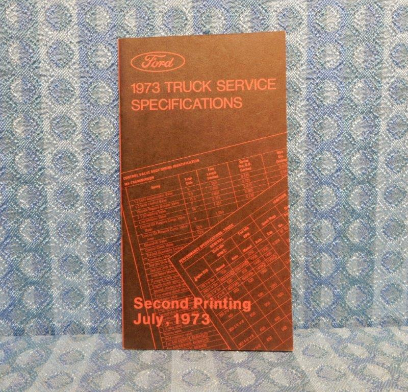 1973 Ford Truck Original Dealer Service Specifications Book Light-Med-Heavy Duty