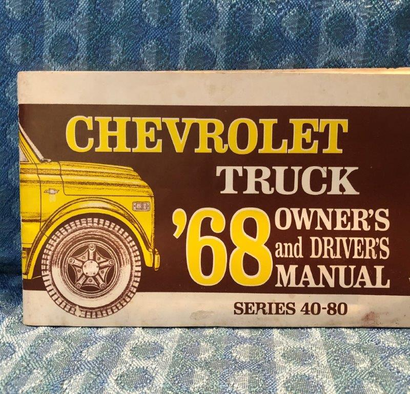 1968 Chevolet Truck Series 40 - 80 Original Owners & Drivers Manual