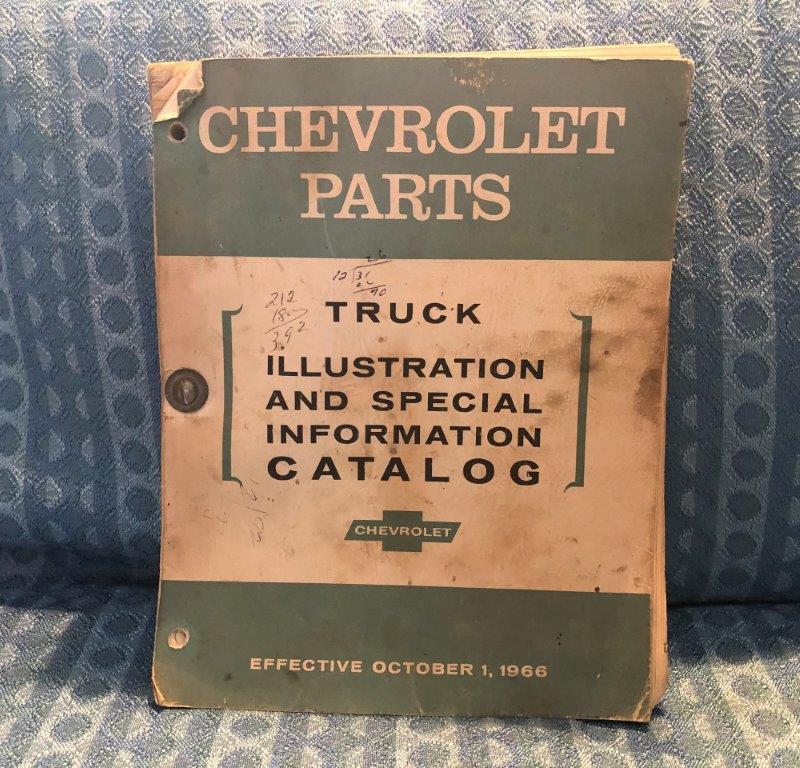 1955-67 Chevrolet Truck Parts Original Illustration & Info Catalog 1957 59 62 64