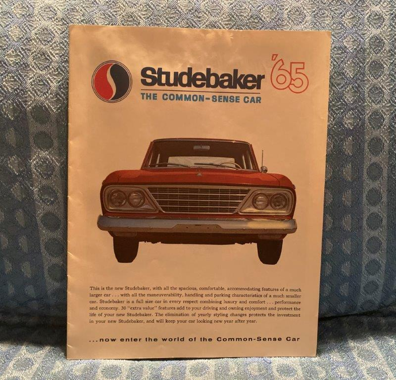 1965 Studebaker Original Sales Brochure Cruiser, Daytona, Commander, Wagonaire