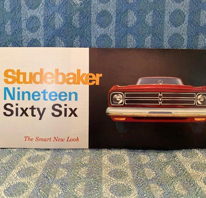 1966 Studebaker Original Color Sales Brochure