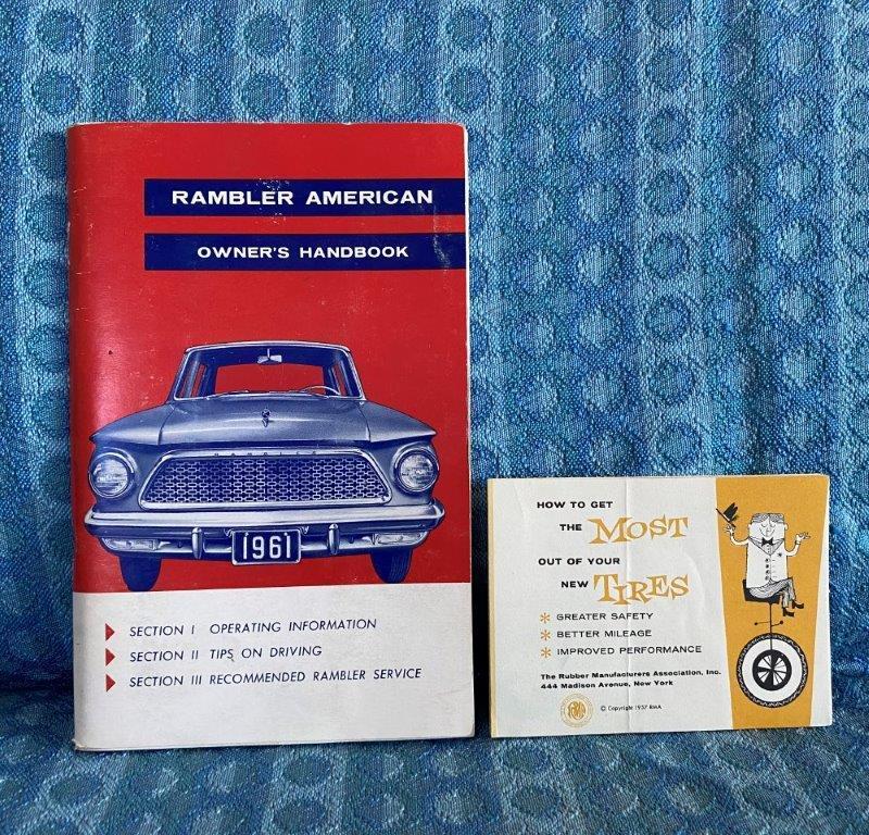 1962 Rambler American Original Owners Handbook / Manual w/ tire insert AMC