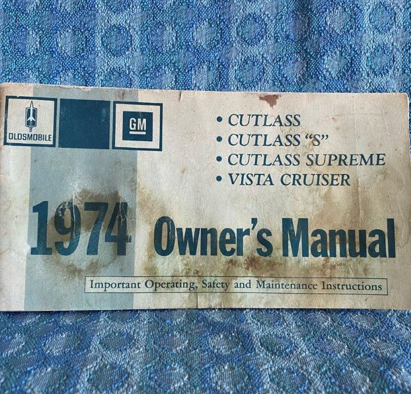 1974 Oldsmobile Cutlass, Cutlass Supreme, Vista Cruiser Original Owners Manual