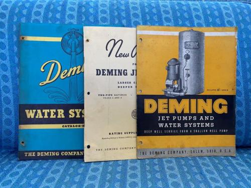 1940 Deming Water Systems & Jet Pumps Lot of 3 Original Catalogs