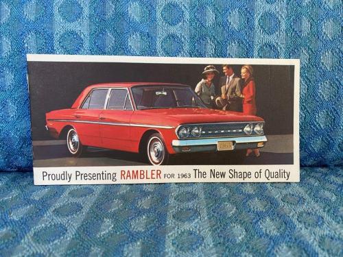 1963 Rambler Original Full Color Sales Brochure Classic, Ambassador, American