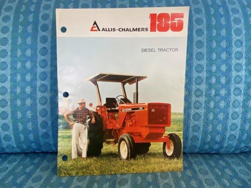 1979 Allis-Chalmers 185 Diesel Tractor Original Full Color Sales Brochure
