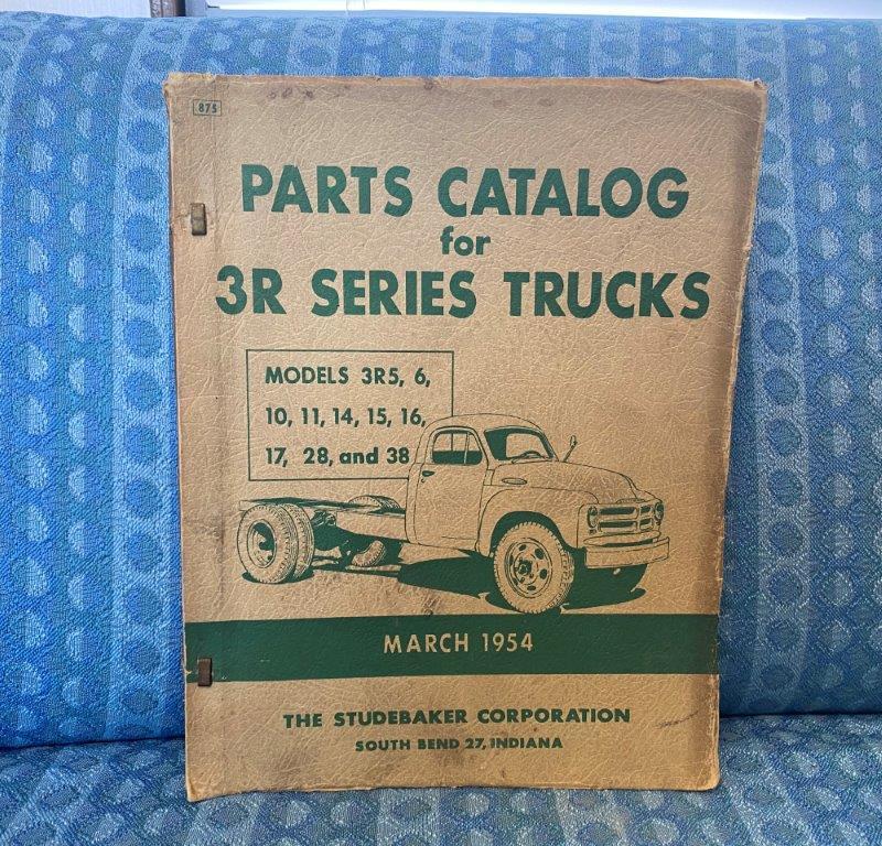 1954 Studebaker 3R Series Trucks Original Illustrated Parts Catalog