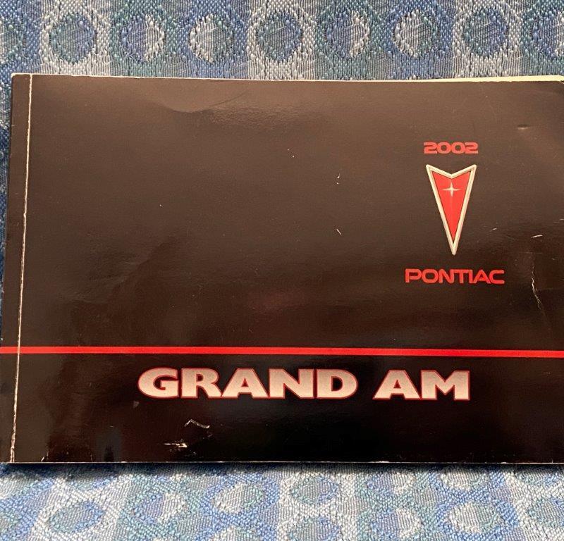 2002 Pontiac Grand AM Original Owners Manual