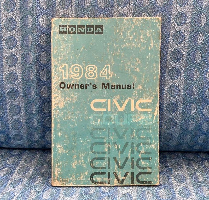 Original Owners Manual for 1984 Honda Civic